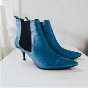Anine Bing Stevie Boots in Metallic Blue